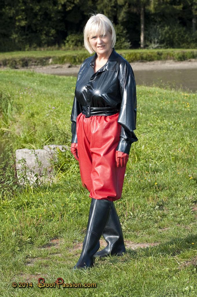 Latex double plastic boots femdom mature moms xxx